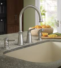 whitmore spot resist stainless one handle high arc kitchen faucet