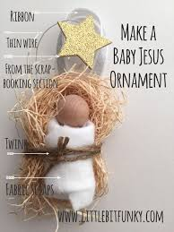 20 minute crafter make an adorable baby jesus ornament