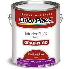 colorplace red delicious semi gloss interior paint 1 gallon