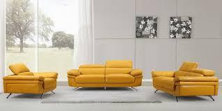 modern yellow leather sofa set 2018 55designs