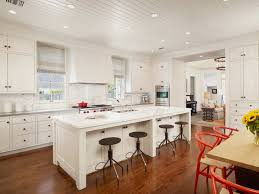 white and red kitchen tiles using beadboard for ceiling kitchen