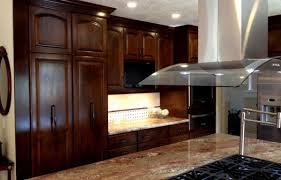 Exotic Wood Kitchen Cabinets Black Varnishes Mahogany Wood Kitchen Cabinet Tile Kitchen