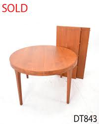 round teak dining table round dining table vintage teak danish homestore