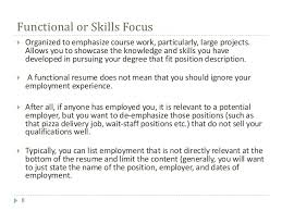 functional resume description engl 317 isi 2 composing job application materials