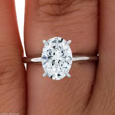 solitaire oval engagement rings oval cut solitaire engagement wedding ring 1 carat solid 14k real