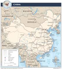 China Maps by China U2014 Central Intelligence Agency