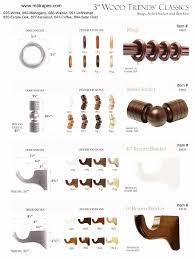 kirsch 3 inch wood poles finials rings brackets large diameter
