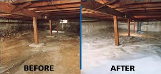 before u0026 after shot of perma seal u0027s crawl space encapsulation