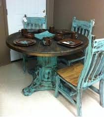 dining tables stunning rustic turquoise dining table turquoise