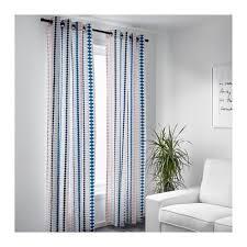 Multi Color Curtains Ikea Mossflox Curtains 1 Pair Multicolor 57 X 98 2 Panels Ebay