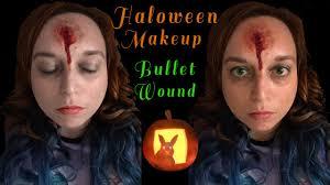 wound halloween makeup bullet wound halloween makeup tutorial youtube