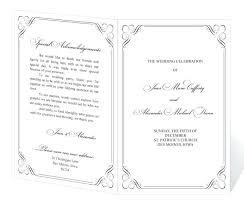 wedding program templates free wedding program template free demonow info