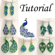 quilling designs tutorial pdf now you can make your own peacock inspired eco friendly jewelry with