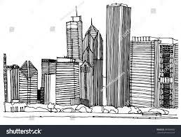scene street illustration hand drawn ink stock vector 387099883