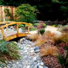 river rock garden designs