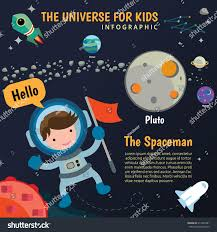 spaceman rocket planet space universe kids stock vector 317482991