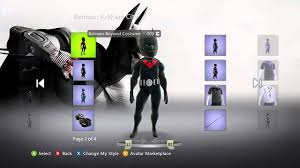 batman costumes batman costumes i xbox 360 i avatar collection youtube