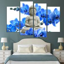 4 pieces free shipping sell modern wall painting buddha the