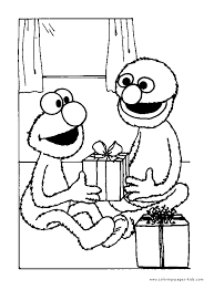 elmo color coloring pages kids cartoon characters