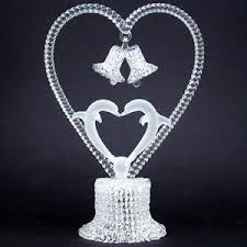glass wedding cake toppers blown glass dolphins wedding cake topper prochaska gallery