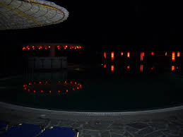 pikionas pool at night photo from skala in kefalonia greece com
