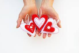 embroidery kit tutorial diy craft kit felt heart ornament