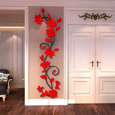 3d flower decal vinyl decor art home living room wall sticker