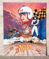 limited edition speed racer poster animation magazine