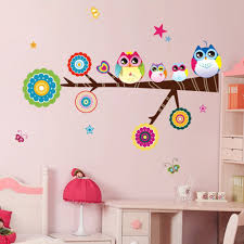amazon com owl family playing on branches owl wall decal sticker amazon com owl family playing on branches owl wall decal sticker nursery wall decal baby
