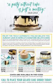 Cake Order Farm Fresh Gelato Cakes Gemelli Gelato U0026 Desserts
