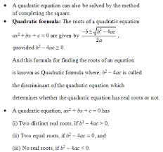 cbse class 10 mathematics quadratic equations important