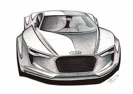 supercar drawing audi e tron detroit concept 2010 supercar sketches