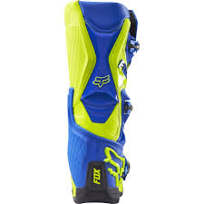 motocross boots size 8 fox racing 2016 comp 8 boots blue yellow available at motocross giant