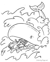 jonah whale coloring sheet kids coloring