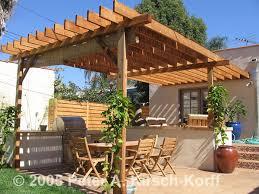 Backyard Arbor Craftsman Wood Dining Pergola Los Angeles Ca Featured In Hgtv