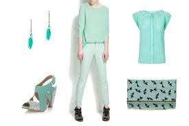 mint green clothes accessories a la mode