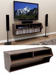 wall mounted flat screen tv cabinet fireplace and floating shelves