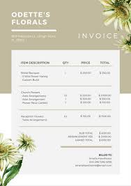 Florist Invoice Template by Beige White Floral Invoice Letterhead Templates By Canva