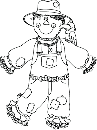 scarecrow coloring pages pdf free kids halloween pictures