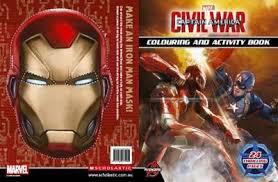 booktopia captain america civil war colouring activity book