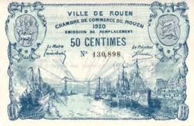 chambre du commerce rouen rouen 1920 billet de nécessité de la chambre de commerce à voir
