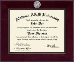 of alabama diploma frame alabama a m century silver engraved diploma frame in