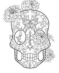 print u0026 download mexican sugar skull coloring pages