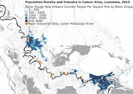 New Orleans Louisiana Map by Industry U0026 Infrastructure Cancer Alley La And Detroit Mi