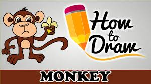 spider monkey clipart easy cartoon pencil and in color spider