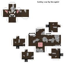 papercraft baby cow