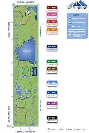 Map Central Park Map U2013 Gb Running