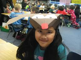 finally in first how to make reindeer hats