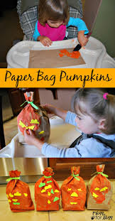 halloween bags to make halloween crafts paper bag pumpkins mess for less
