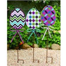 Giant Easter Egg Lawn Decorations by Easter Egg Yard Art Yard Stake Decoration Polka Dots 18 50 Via